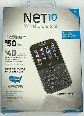$18.99 • Buy NEW & SEALED NeT10 SAMSUNG S390G Cell Mobile Phone QWERTY Keybd Wi-Fi Bluetooth