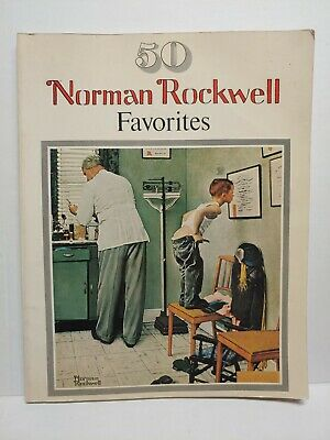 $ CDN5.27 • Buy 1977 Norman Rockwell Favorites Book 50 Large Poster Size Coffee Table Framable