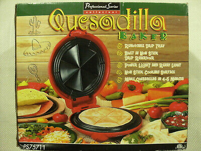 $19.95 • Buy Professional Series PS75711 Red Electric Quesadilla Baker/Maker Collezioni - NEW