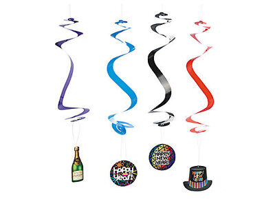 £2.47 • Buy SALE - 12 Dangling New Years Eve Swirl Decorations
