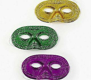 12 Assorted Glitter Mardi Gras Masks To Decorate For Crafts | Masks To Decorate • 6.75£