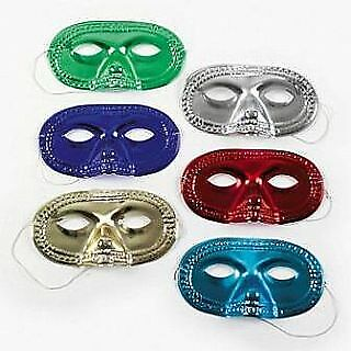 24 Assorted Metallic Half Face Masks To Decorate For Crafts | Masks To Decorate • 5.06£