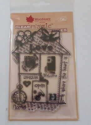 Woodware Clear Stamp - FRS612 Home Collage • 3£