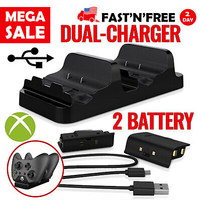 $16.99 • Buy Xbox One Controller Charging Station Dual Dock With Rechargeable Batteries
