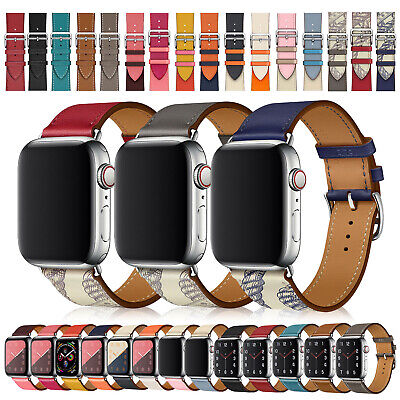 $ CDN5.42 • Buy IWatch Single Tour Leather Band For For Apple Watch Series 5 4 3 2 38/40 42/44mm