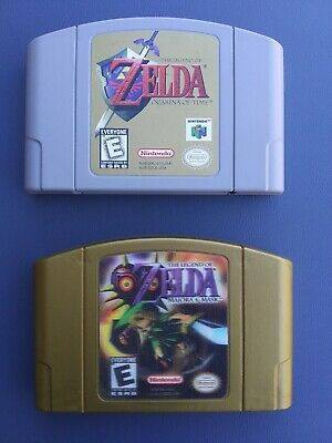 $99.99 • Buy FAST SHIPPING Legend Of Zelda Ocarina Of Time And Majora's Mask N64 *both Save*