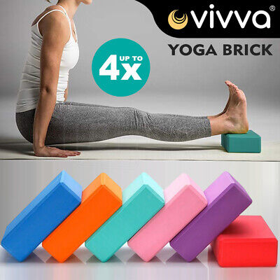 AU17.99 • Buy VIVA 2Pcs Yoga Block Brick Foaming Home Exercise Practice Fitness Gym Sport Tool