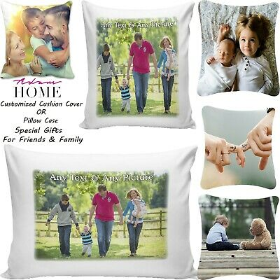 Personalized Cushion Cover Or Pillow Case Lovely Gift Digital Printed Pics Text • 7.95£
