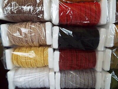 £1.99 • Buy 1M- Silky Scroll Braid For Blinds Costume Upholstery Furnishing Gimp Trim-10mm