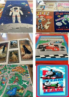 Quilting - Sewing - Panels - Various Designs - Childrens - Cars - Space - Dogs • 12.99£