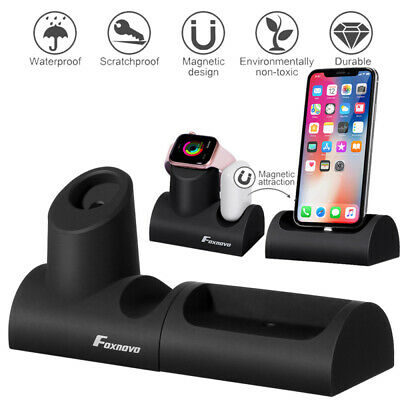 AU19.99 • Buy 3 In 1 Magnetic Charging Dock Station Holder Stand For Apple Watch AirPod IPhone