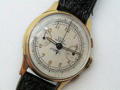 $ CDN870.88 • Buy Vintage Driva Valjoux 22 Chronograph Circa 40's Serviced