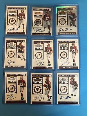 $ CDN99.55 • Buy 2019 Panini Contenders Football - 23 Card Auto Rookie Lot - Rookie Ticket Auto's