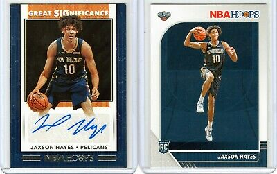 $ CDN7.40 • Buy 19 20 Panini Nba Hoops Jaxson Hayes Great Significance Auto/rookie Lot Pelicans