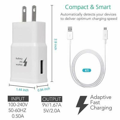 $ CDN5.99 • Buy Original Adaptive Fast Wall Charger Cable Samsung Galaxy S10 S8 S9 Plus Note 9 8