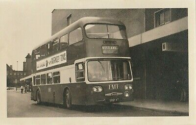 Potteries. 1964. Daimler CRG6LX-Alexander. 5021VT, No.1021. Longton Bus Station. • 1.10£