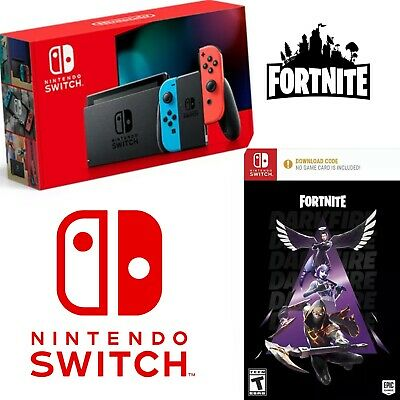 $405 • Buy NEW Sealed NINTENDO SWITCH Neon Red Neon Blue Joy-Con CONSOLE Fortnite BUNDLE