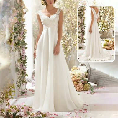 AU89.99 • Buy New Women Lace Backless Wedding Dress Cocktail Formal Ball Gown Train Long Dress