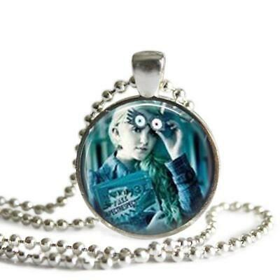 Harry Potter Luna Lovegood 1 Inch Silver Plated Pendant Necklace Handmade • 11.48£