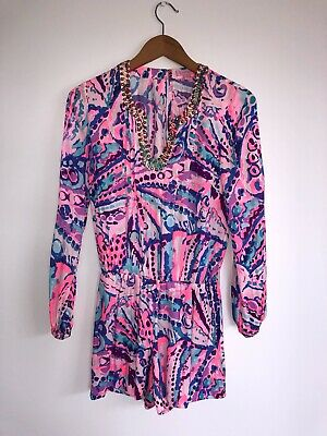 $26 • Buy Lilly Pulitzer Colby Longsleeved Romper XS (NWT)-never Worn, Lovely For Summer