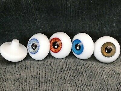 £29.99 • Buy Round Glass Paperweight Eyes - Reborn Dolls Eyes - Choice Of Colours 14mm - 24mm