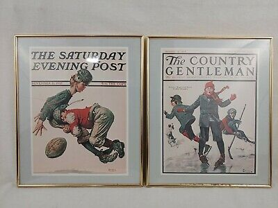 $ CDN31.46 • Buy 2 Framed Norman Rockwell Prints - The Saturday Evening / The Country Gentleman
