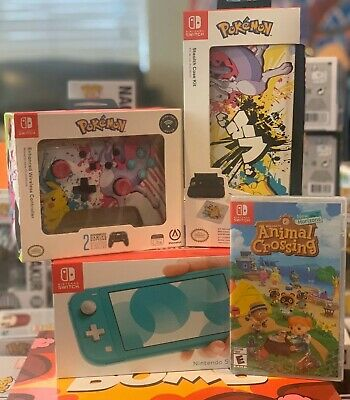 $271 • Buy Nintendo Switch Lite Animal Crossing With Controller And Case Kit Custom Bundle