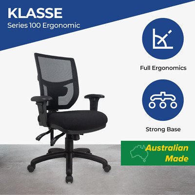 AU287 • Buy Office Chairs Fully Ergonomic Mesh Chair Posture Correct Lumbar Computer Chairs