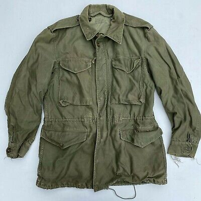 $150 • Buy Vintage Military WWII M-1943 M43 US Army Field Jacket Green Small