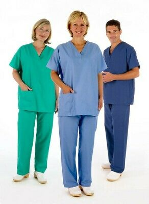 £9.77 • Buy NHS Medical Compliant Reversible Scrub Suit (TROUSERS ONLY) Nurse Dental