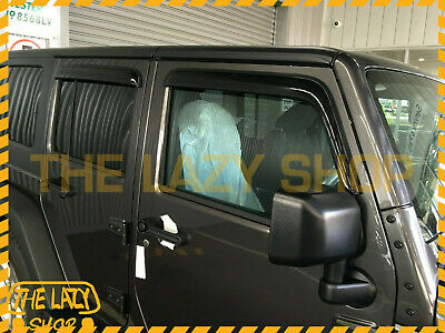 AU65 • Buy Weathershields, Weather Shields For Jeep Wrangler JK 07-18 Sun Visors Luxury