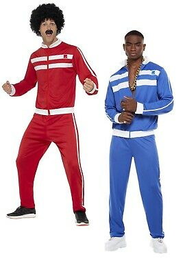 Mens Tracksuit Costume 1980s 80s Shell Suit Adults Fancy Dress Outfit Scouser • 13.49£