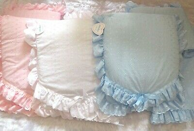 £40 • Buy Beautiful Kinder Romany Broderie Anglaise Crib Bedding Quilt Bumper & Drape Set
