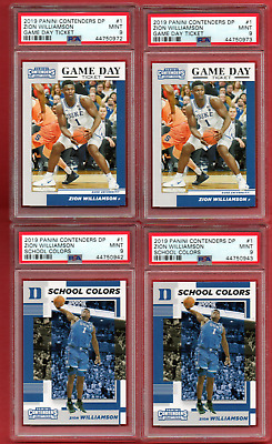 $20.50 • Buy 2019 Panini Contenders #1  Zion Williamson Rookie 4 Card Lot All Psa 9  Mint