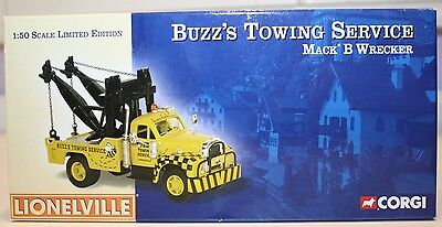 $19.99 • Buy Corgi Lionelville Buzz's Towing Service Mack B Wrecker Limited Edition 0162/1300