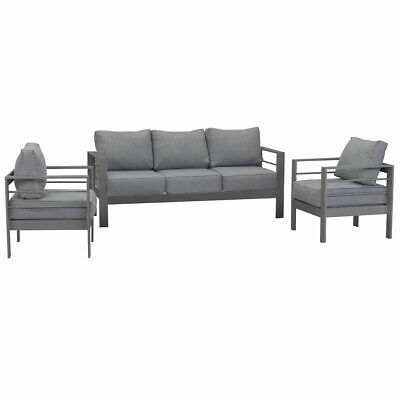 AU849.99 • Buy New Charcoal Outdoor Aluminium Sofa Lounge Setting Garden Furniture Set Chairs