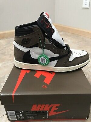 $880 • Buy Travis Scott X Air Jordan 1 High OG Size 7.5 New With OG Box And Extra Laces