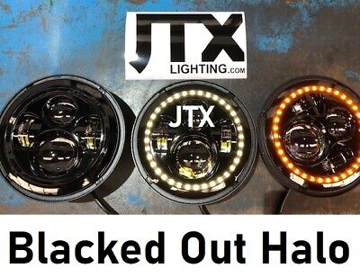 AU395 • Buy JTX 7  LED Headlights Blacked Out Halo Ford Bronco PickUp F100 F150 F250 F350