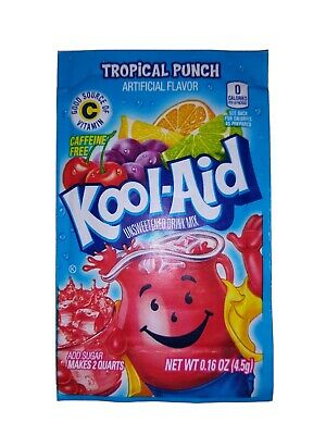 5 Packs Of Kool Aid TROPICAL PUNCH Flavor Drink Mix Packet Gluten Free FREE SIHP • 5.06£