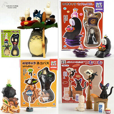 New Totoro Bus Cat JIJI DIY No-Face PVC Decorations Collectables Toys With Box • 13.99£