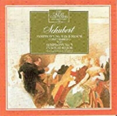 The Great Composers: Schubert Symphony No. 8 & No. 5 (CD, 1990) - LN • 2£
