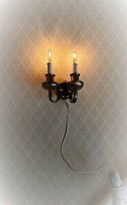 Dollhouse Miniatures 1:12 Scale Candle Sconces 2Pk #IM65519 Non-Working