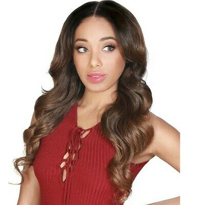 $21.99 • Buy Zury Saro Lace Front Wig Center Wide Part Feathered Ends.