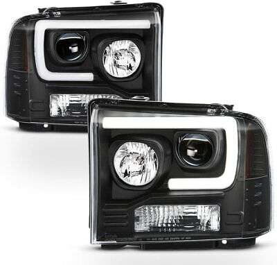 AU422.75 • Buy 05-07 Ford F250 F350 F450 Superduty Black LED Tube Style Projector Headlights