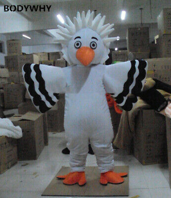 White Big Bird Eagle Mascot Costume Suits Cosplay Party  Ad Promotion Carnival • 177.86£