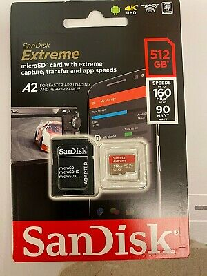 $110 • Buy SanDisk Extreme 512GB MicroSD Card (160MB READ-90MB WRITE)