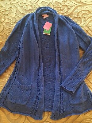 $28.99 • Buy NWT Lilly Pulitzer Leah Cardigan Iris Blue Size Small!