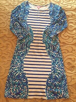 $26.99 • Buy Lilly Pulitzer Nila Dress Brilliant Moon Jellies Stripe M EXCELLENT CONDITION!