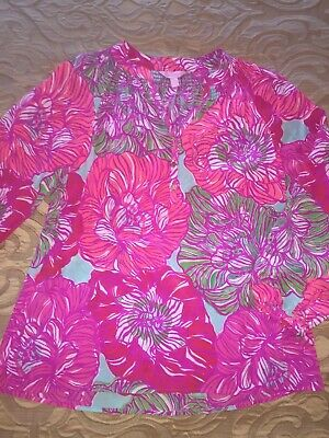 $18.99 • Buy Lilly Pulitzer Elsa Blouse Size S EXCELLENT CONDITION!