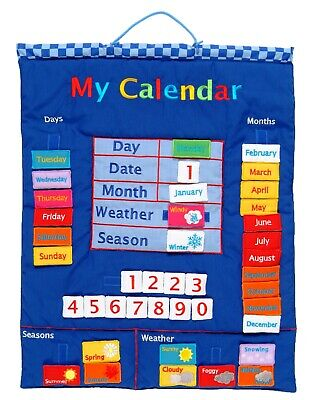 My Calendar Fabric Wall Hanging In Blue By Fiesta Crafts • 34£